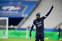 17th November 2020; Stade de France, Paris,  France; UEFA National League international football, France versus Sweden; France warm up for Kurt Zuma (France)