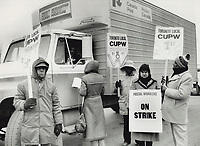 1987 FILE PHOTO - ARCHIVES -<br /> <br /> Canada Post on strike<br /> <br /> 1987<br /> <br /> PHOTO :  Erin Comb - Toronto Star Archives - AQP