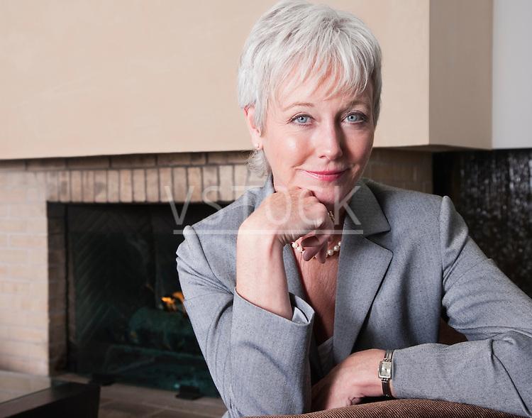 USA, California, Mill Valley, Portrait of mature businesswoman