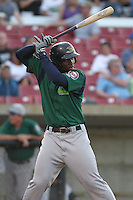 Beloit Snappers third baseman Miguel Sano #33 bats during a game against the Kane County Cougars at Fifth Third Bank Ballpark on June 26, 2012 in Geneva, Illinois. Beloit defeated Kane County 8-0. (Brace Hemmelgarn/Four Seam Images)