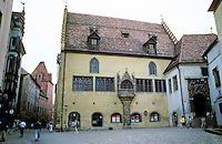 Regensburg: Old Town Hall. Medieval building, one of the oldest town halls in Germany. Photo '87.