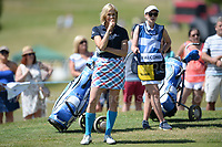 TV and Radio presenter Jenni Falconer a member of Team Scotland during the Bulmers 2018 Celebrity Cup at the Celtic Manor Resort. Newport, Gwent,  Wales, on Saturday 30th June 2018<br /> <br /> <br /> Jeff Thomas Photography -  www.jaypics.photoshelter.com - <br /> e-mail swansea1001@hotmail.co.uk -<br /> Mob: 07837 386244 -