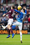 Hearts v St Johnstone…26.01.19…   Tynecastle    SPFL<br />Scott Tanser and Marcus Godinho<br />Picture by Graeme Hart. <br />Copyright Perthshire Picture Agency<br />Tel: 01738 623350  Mobile: 07990 594431