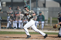 Slippery Rock outfielder Graeme Zaparzynski (16) during a game against Upper Iowa University at Frank Tack Field on March 14, 2014 in Clearwater, Florida.  Slippery Rock defeated Upper Iowa 14-9.  (Mike Janes/Four Seam Images)
