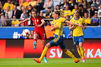 Gothenburg, Sweden - Thursday June 08, 2017: Meghan Klingenberg, Linda Sembrant during an international friendly match between the women's national teams of Sweden (SWE) and the United States (USA) at Gamla Ullevi Stadium.