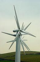 Wind farm, near Huddersfield, Yorkshire.Turbines.
