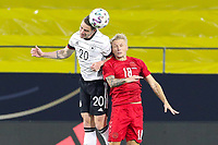 2nd June 2021, Tivoli Stadion, Innsbruck, Austria; International football friendly, Germany versus Denmark;  Robin Gosens 20 Germany and Daniel Wass 18 Denmark