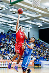 Tsai Choi Kwan #27 of SCAA Men's Basketball Team goes to the basket against the Fukien during the Hong Kong Basketball League game between SCAA and Fukien at Southorn Stadium on June 01, 2018 in Hong Kong. Photo by Yu Chun Christopher Wong / Power Sport Images