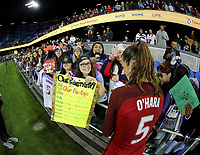 San Jose, CA - Sunday November 12, 2017: Kelley O'Hara during an International friendly match between the Women's National teams of the United States (USA) and Canada (CAN) at Avaya Stadium.