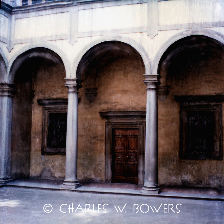 Roman arches support the portico of the building that celebrates it's centuries of service and survival.<br /> <br /> -Limited Edition of 50 Prints