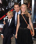 Ethan Hawke and his children at The Warner Bros. Pictures L.A. Premiere of Getaway held at The Regency Village Theater in Westwood, California on August 26,2013                                                                   Copyright 2013 Hollywood Press Agency