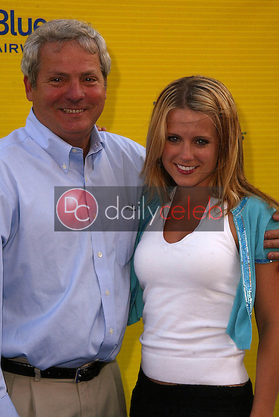 """Russell Munn and daughter Alison Munn<br /> at the launch of Jet Blue out of Burbank and 25th anniversary screening of """"Airplane"""" at Warner Bros. Studios, Burbank, CA 06-13-05<br /> David Edwards/DailyCeleb.Com 818-249-4998"""