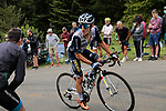 Rémy Rochas (FRA) Nippo Delko Provence rounds the final bend before the finish of Stage 3 of the Route d'Occitanie 2020, running 163.5km from Saint-Gaudens to Col de Beyrède, France. 3rd August 2020. <br /> Picture: Colin Flockton | Cyclefile<br /> <br /> All photos usage must carry mandatory copyright credit (© Cyclefile | Colin Flockton)