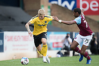 Stephen Humphrys, Southend United, looks to get beyond Jamal Baptiste, West Ham U21's during Southend United vs West Ham United Under-21, EFL Trophy Football at Roots Hall on 8th September 2020