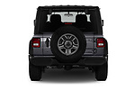 Straight rear view of 2020 JEEP Wrangler Sport 3 Door SUV Rear View  stock images
