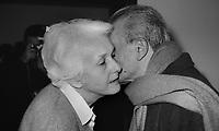 Roma 1990.Redazione quotidiano il Manifesto..Nella foto Rossana Rossanda e Pietro Ingrao..Foto Livio Senigalliesi.