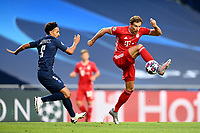 23rd August 2020, Estádio da Luz, Lison, Portugal; UEFA Champions League final, Paris St Germain versus Bayern Munich; Leon Goretzka of FC Bayern Munich controls the ball under pressure from Marquinhos of Paris Saint-Germain