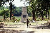 Livingstone Memorial, Zambia. Young boy playing at the Livingstone memorial where the explorer's heart is buried.