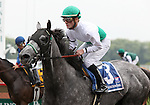 4 July 2009: INFORMED DECISION and jockey Julien R. Leparoux come back to the winner's circle after winning the 21st running of the Chicago Handicap at Arlington Park in Arlington Heights, Illinois.