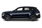 Car Driver side profile view of a 2021 Mercedes Benz GLC AMG-43 5 Door SUV Side View