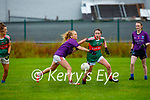 Clare Culhane Kilcummin and Kate Cronin Inbhearr Sceine Gaels compete for the loose ball during their Intermediate clash in Kilcummin on Sunday
