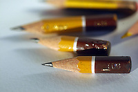 Matite consumate. Pencils consumed...