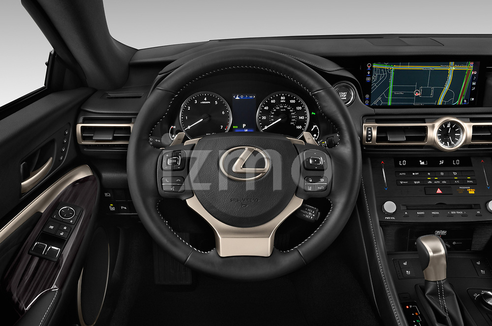 Car pictures of steering wheel view of a 2019 Lexus RC 350 2 Door Coupe