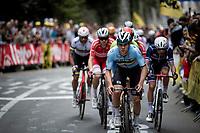Remco Evenepoel (BEL/Deceuninck-Quick Step) leading the way among the roaring crowd that often chants his name up the Keizersberg<br /> <br /> Elite Men World Championships - Road Race<br /> from Antwerp to Leuven (268.3km)<br /> <br /> UCI Road World Championships - Flanders Belgium 2021<br /> <br /> ©kramon