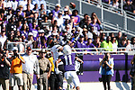 Oklahoma State Cowboys wide receiver Brandon Sheperd (7) and TCU Horned Frogs cornerback Ranthony Texada (11) in action during the game between the OSU Cowboys and the TCU Horned Frogs at the Amon G. Carter Stadium in Fort Worth, Texas. TCU defeated OSU 42 to 9.