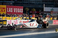 Nov 1, 2019; Las Vegas, NV, USA; NHRA top fuel driver Steve Torrence during qualifying for the Dodge Nationals at The Strip at Las Vegas Motor Speedway. Mandatory Credit: Mark J. Rebilas-USA TODAY Sports