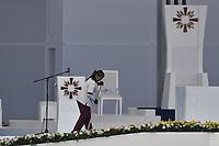 BOGOTÁ - COLOMBIA, 07-09-2017:  Se ultiman detalles para que el Papa Francisco realice su oficio religioso en el parque Simón Bolívar en Bogotá. El Papa Francisco realiza la visita apostólica a Colombia entre el 6 y el 11 de septiembre de 2017 llevando su mensaje de paz y reconciliación por 4 ciudades: Bogotá, Villavicencio, Medellín y Cartagena. / Last fixes to Pope Francisco made his mass at Simon Bolivar park in Bogota. Pope Francisco makes the apostolic visit to Colombia between September 6 and 11, 2017, bringing his message of peace and reconciliation to 4 cities: Bogota, Villavicencio, Medellin and Cartagena. Photo: VizzorImage / Gabriel Aponte / Staff