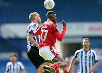 Nottingham Forest's Alfa Semedo vies for possession with Sheffield Wednesday's Connor Wickham<br /> <br /> Photographer Rich Linley/CameraSport<br /> <br /> The EFL Sky Bet Championship - Sheffield Wednesday v Nottingham Forest - Saturday 20th June 2020 - Hillsborough - Sheffield <br /> <br /> World Copyright © 2020 CameraSport. All rights reserved. 43 Linden Ave. Countesthorpe. Leicester. England. LE8 5PG - Tel: +44 (0) 116 277 4147 - admin@camerasport.com - www.camerasport.com