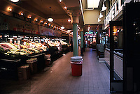 Seattle: Pike Place Market, popular with  tourists and locals.  Photo '86.