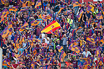 Supporters of FC Barcelona  during the match of  Copa del Rey (King's Cup) Final between Deportivo Alaves and FC Barcelona at Vicente Calderon Stadium in Madrid, May 27, 2017. Spain.. (ALTERPHOTOS/Rodrigo Jimenez)