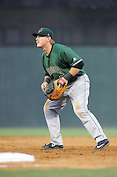 First baseman Skyler Ewing (25) of the Augusta GreenJackets in a game against the Greenville Drive on Opening Day, Thursday, April 9, 2015, at Fluor Field at the West End in Greenville, South Carolina. Greenville won, 3-2. (Tom Priddy/Four Seam Images)