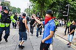 © Joel Goodman - 07973 332324 - all rights reserved . 05/06/2010 . Cardiff , UK . Anti fascist demonstrators . The Welsh Defence League (an offshoot of the English Defence League ) hold a march and rally in Cardiff , opposed by anti-fascist groups including Unite Against Fascism . Photo credit : Joel Goodman