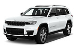 2021 JEEP Grand-Cherokee-L Limited 5 Door SUV Angular Front automotive stock photos of front three quarter view