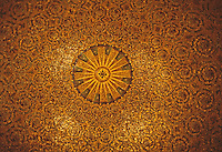 New York: Woolworth Building--Lobby Ceiling, glass mosaic. Photo '78.