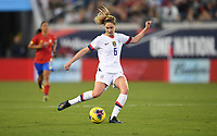 JACKSONVILLE, FL - NOVEMBER 10: Morgan Brian #6 of the United States sends a ball downfield during a game between Costa Rica and USWNT at TIAA Bank Field on November 10, 2019 in Jacksonville, Florida.
