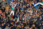 November 3, 2018: Frankie Dettori leaps off of Enable #2, after winning the Longines Breeders' Cup Turf on Breeders' Cup World Championship Saturday at Churchill Downs on November 3, 2018 in Louisville, Kentucky. Carolyn Simancik/Eclipse Sportswire/CSM