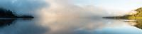 Moody dawn at Lake Mapourika, Westland Tai Poutini National Park, UNESCO World Heritage Area, West Coast, New Zealand, NZ