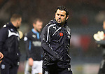 Dundee v St Johnstone....08.11.14   SPFL<br /> Paul Hartley leaves the pitch at full time<br /> Picture by Graeme Hart.<br /> Copyright Perthshire Picture Agency<br /> Tel: 01738 623350  Mobile: 07990 594431