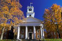 church, college, Amherst, MA, Massachusetts, Johnson Chapel on Amherst College campus in Amherst in the autumn.