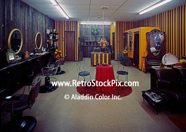 Hairloom Beauty Salon, Anglesea, NJ. Interior of the beauty shop.