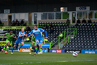 Scott Quigley of Barrow scores a penalty during the Sky Bet League 2 match between Forest Green Rovers and Barrow at The New Lawn, Nailsworth on Tuesday 27th April 2021. (Credit: Prime Media Images I MI News)