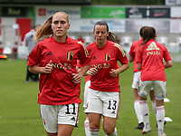 Janice Cayman (11) of Belgium pictured during the warm up before a friendly female soccer game between the national teams of Luxemburg and Belgium , called the Red Flames  in a preparation towards the qualification for the  FIFA Women's World Cup , on saturday 12 th of June 2021  in Wiltz , Luxemburg . PHOTO SPORTPIX BE   SPP   SEVIL OKTEM