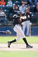 June 8, 2008: Fresno Grizzlies' Eugenio Velez at-bat during a Pacific Coast League game against the Tacoma Rainiers at Cheney Stadium in Tacoma, Washington.