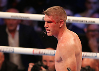 9th October 2021; M&S Bank Arena, Liverpool, England; Matchroom Boxing, Liam Smith versus Anthony Fowler; LIAM SMITH (Liverpool, England) reacts after sustaining a cut  during their WBA International Super-Welterweight Title contest