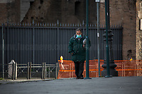 """Buy newspapers at newsagents: allowed.<br /> <br /> Rome, 12/03/2020. Documenting Rome under the Italian Government lockdown for the Outbreak of the Coronavirus (SARS-CoV-2 - COVID-19) in Italy. On the evening of the 11 March 2020, the Italian Prime Minister, Giuseppe Conte, signed the March 11th Decree Law """"Step 4 Consolidation of 1 single Protection Zone for the entire national territory"""" (1.). The further urgent measures were taken """"in order to counter and contain the spread of the COVID-19 virus"""" on the same day when the WHO (World Health Organization, OMS in Italian) declared the coronavirus COVID-19 as a pandemic (2.).<br /> ISTAT (Italian Institute of Statistics) estimates that in Italy there are 50,724 homeless people. In Rome, around 20,000 people in fragile condition have asked for support. Moreover, there are 40,000 people who live in a state of housing emergency in Rome's municipality.<br /> March 11th Decree Law (1.): «[…] Retail commercial activities are suspended, with the exception of the food and basic necessities activities […] Newsagents, tobacconists, pharmacies and parapharmacies remain open. In any case, the interpersonal safety distance of one meter must be guaranteed. The activities of catering services (including bars, pubs, restaurants, ice cream shops, patisseries) are suspended […] Banking, financial and insurance services as well as the agricultural, livestock and agri-food processing sector, including the supply chains that supply goods and services, are guaranteed, […] The President of the Region can arrange the programming of the service provided by local public transport companies […]».<br /> Updates: on the 12.03.20 (6:00PM) in Italy there 14.955 positive cases; 1,439 patients have recovered; 1,266 died.<br /> <br /> Footnotes & Links:<br /> Info about COVID-19 in Italy: http://bit.do/fzRVu (ITA) - http://bit.do/fzRV5 (ENG)<br /> 1. March 11th Decree Law http://bit.do/fzREX (ITA) - http://bit.do/fzRFz (ENG)<br /> 2. http://bit.do/fz"""