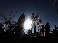BOGOTA- COLOMBIA, 4-12-2020:Deportistas culminan su subida a 3.152 de altura en el Santuario de Monserrate de la ciudad de Bogotá. / Athletes finish their climb to 3152 high in the Sanctuary of Monserrate in the city of Bogotá. Photo: VizzorImage / Felipe Caicedo / Staff